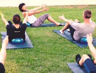 pilates au parc